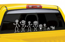 VW Stick Man Sticker Decal Selection - Build Your Own Family
